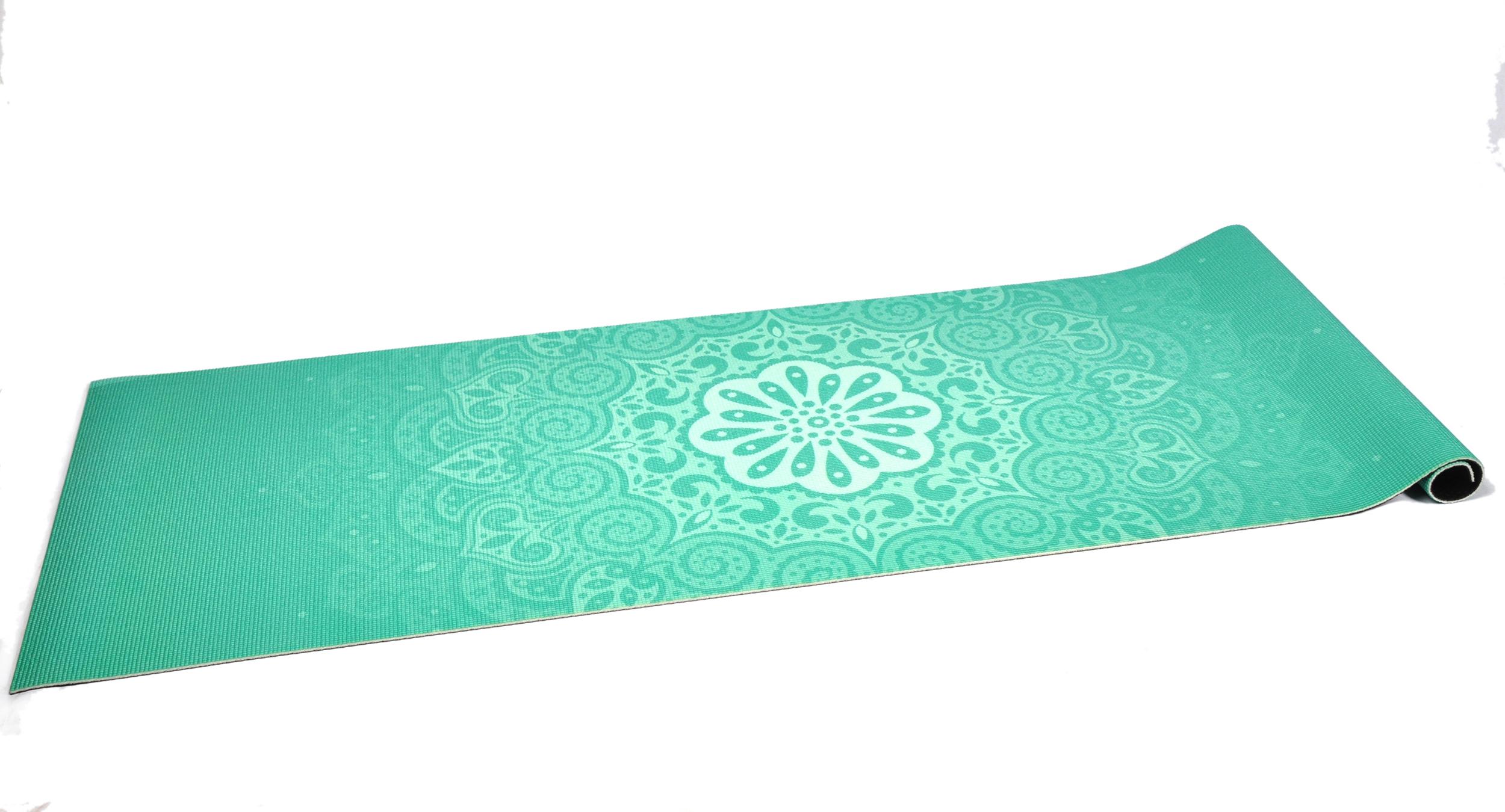 Mint Green Design 6mm Pvc Superior Grip Sticky Mandala